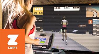 ZWIFT搭配皇娥智慧跑步機,在家運動、室內跑步、社群交流正夯